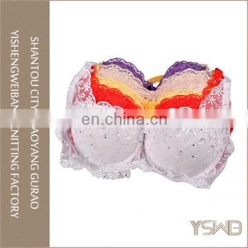 Customized color cotton underwear stylish B cup lace chinese bra
