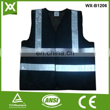 Factory made polyester safety refelctive warning hi viz vest