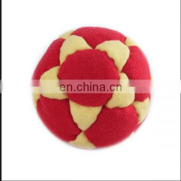 polyester Hacky sack ,Knitting juggling balls ,stuffed ball promotion soccer colorful beach ball