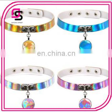 2017 Fashionable pendant colorful laser choker
