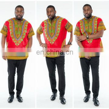 African Men Unisex Cotton Clothing Dashiki t Shirt Summer Clothes Variaty Colors