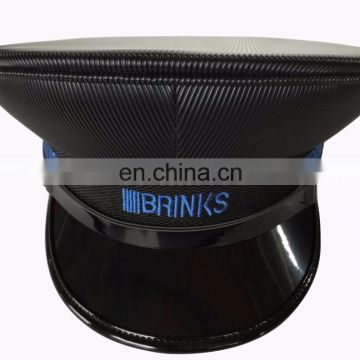 black pvc military army service dress cap