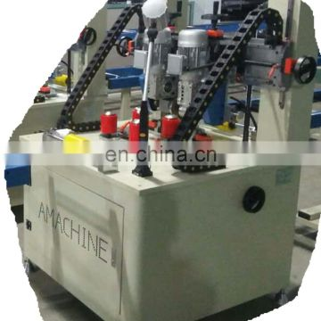 Automatic aluminum profile knurling thermal break machine with strip insertion
