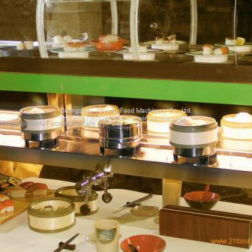 Dim Sum conveyor belt for restaurant Reliable quality rotary conveyor belt system