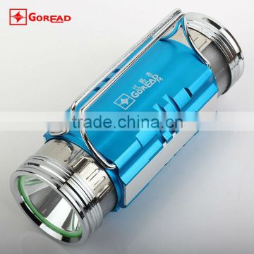 GOREAD F6 dual LED fish light blue white rechargeable with fish bait lights 400lum fishing light