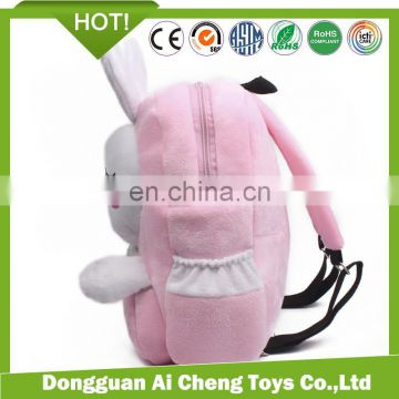 children fashion cute animal shaped plush rabbit backpack