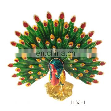 For women gifts Birthday gifts metal peacock jewelry box
