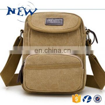 CR fully stocked wholesale professional augur canvas bags chest pack messenger bag khaki