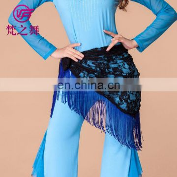 Cheap tassel belly dance lace hip scarf for women Y-2050#