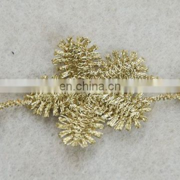 Top hot design fashion flower gold lurex tape for wholesale trim
