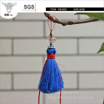 High quality 6cm shine charming Tassel fring, Crystal beads tassels decorative for handbag, apprarels, curtains.