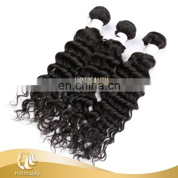 Factory wholesale Indian virgin deep wave real virgin cheap 100% human hair clip in hair extension