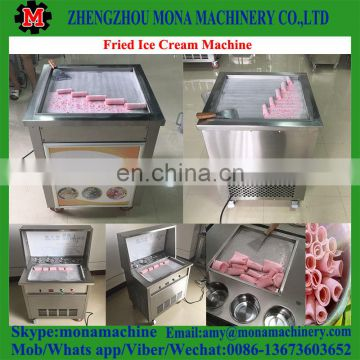 2018 New Style -30 C degree Fried Ice Cream Machine double pan roll cold plate