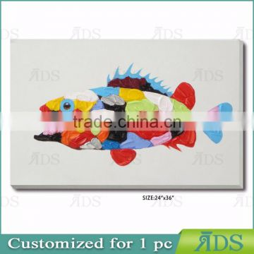 New Original with Colorful Fish Painting
