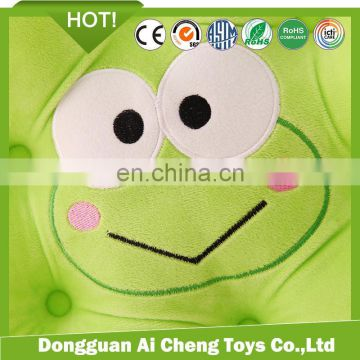 cute green frog children play game plush toy cushion