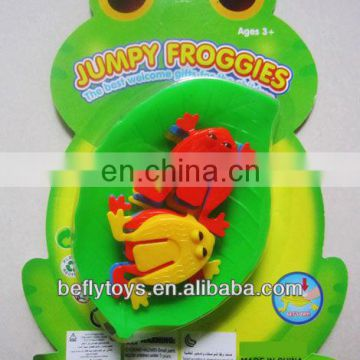 Kids plastic toy game jumping frog