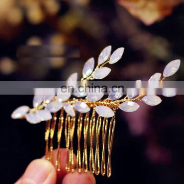 Amelie Wedding Hair Accessories Regal Girls headpiece Opal Crystal Bridal Hair Comb Jewelry Decoration bobby comb Head wear