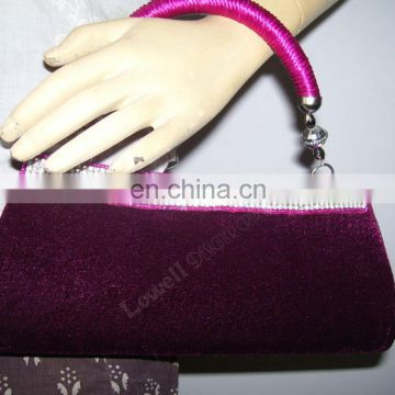 ZIRCON BLACK BEAD CLUTCH PURSE