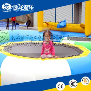 Best quality inflatable water game outdoor floating cheap toys inflatable water trampoline for entertainment with good quality