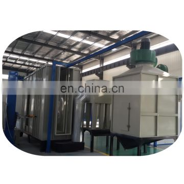 Electrostatic automatic powder paint spraying coating line