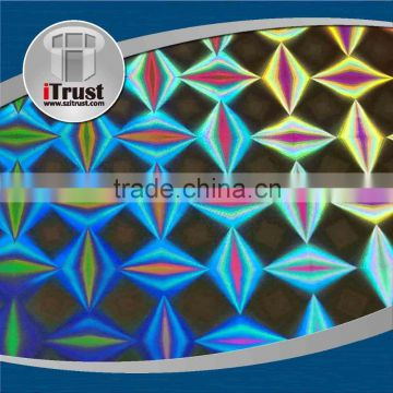 3D holographic transparent foil