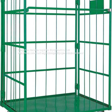 Green Warehouse Roll Cages Stainless Steel Galvanized Plating