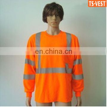 Wholesale Breathable Reflective 100% Cotton Safety Orange Shirt