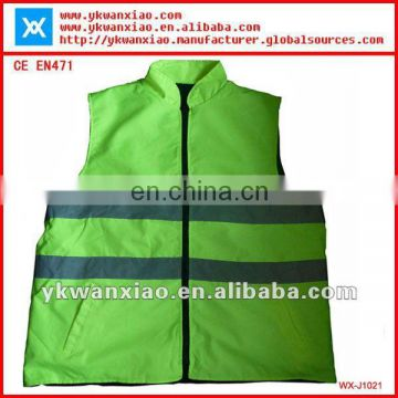 Reversible reflective jacket with high visibility,high visibility jacket with reversible sides,Reversible safety jacket,