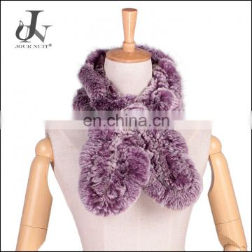 Womens Genuine Rex Rabbit Fur Knitted Warm Scarf