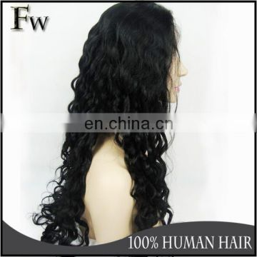 Faceworld hair virgin brazilian hair half wig,best selling human hair wig