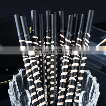 Hottest Fur Pattern Gel Pen Great Stationary Leopard /zebra strip barrel