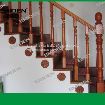 Shenzhen Yi Mei Deng Supply Office Cement Foundation Household Solid Wood Staircase Arrests