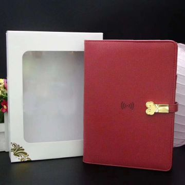 High End Corporate Gifts Power Bank Diary Customized Logo for Events