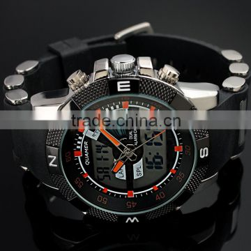 Best fashion sport style wholesale dual time digital watch mens sport wrist watch WS078