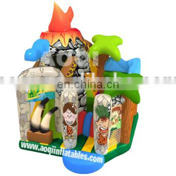 2015 AOQI new design fantastic best sale volcano inflatable combo for kids