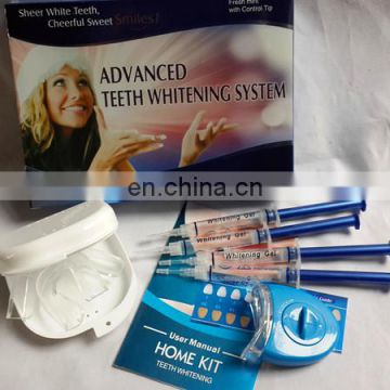 2016 Hot Sale bright White Smiles Teeth Whitening kit For Teeth Cleaning Include Gel, Blue Led Light, Mouth Tray