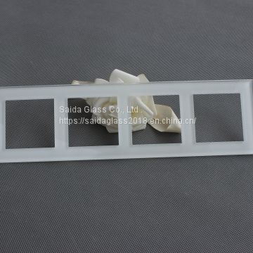factory oem custom switch wall glass ,switch glass plate, frame glass panel