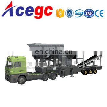Mobile/portable/Movable mine stone petrol/diesel crushing plant station