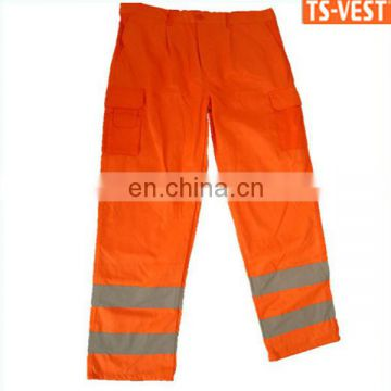 EN471-2008 Cotton/Polyester 60/40 Weight 230 g/m3 Fireman Safety Reflective Trousers