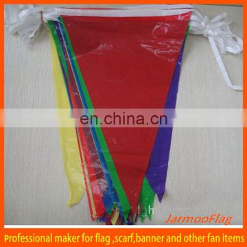 customized plastic pennants string flag
