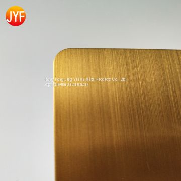 Titanium gold brushed color decorative stainless steel sheet for home wall