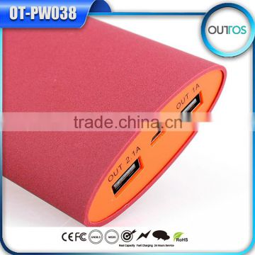 Fashion Portable Power Bank Emergency Multi Battery Charger 13200mah