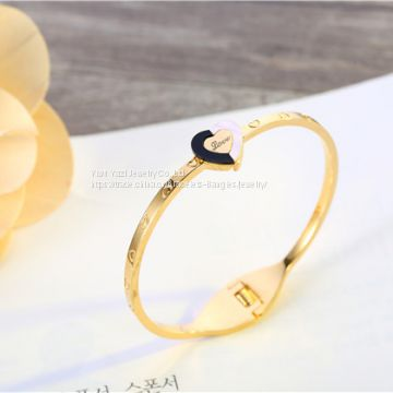 Gold Rose Gold Silver PVD Plating Womens Stainless Steel Bracelet Bangles Esposas