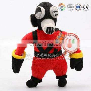 Custom plush heroic fireman for safety exercise