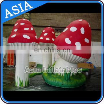 Attractive Wedding Decoration Inflatable Mushroom Flower / Led Inflatable Mushroom