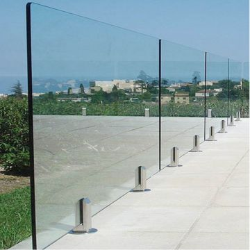 Australia Popular Design Balcony Railing with 12mm Tempered Glass and Stainless Steel Spigots