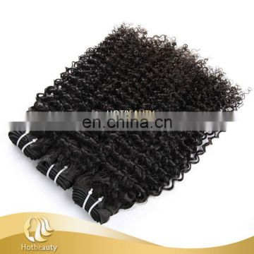 Hotbeauty top grade Kinky curly brazilian virgin human hair weave, hair extension, hair extension bundles