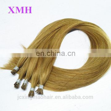 High Quality Pre-bonded Hair Extension Keratin Fusion Tip 100% Remy Human Hair Extension I-Tip Hair Extensions