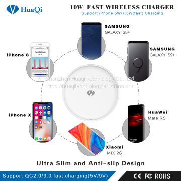 Best 10W Fast Qi Wireless Charger Charging Pad for iPhone/Samsung/LG/Nokia/Huawei/Xiaomi