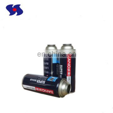 Various diameter necked-in empty printed packaging aerosol tin can